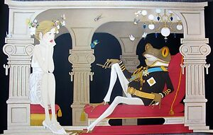 Philippe NOYER quot;THE DICTATORquot; Hand Signed Large Lithograph Art FROG PRINCE $179.99