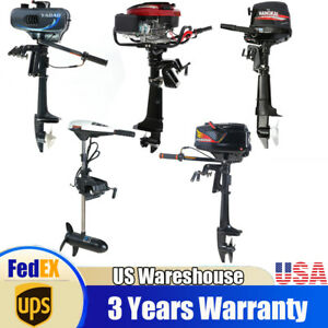 Motor Outboard for fishing Boat Engine air water cooling Electric Trolling USA