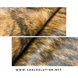 Cowhide Leather Sheets Brindle Hair on Hide Cowhide Leather for bags wallet $18.69