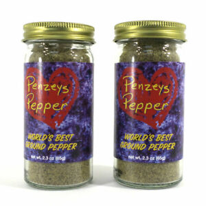 Penzeys Pepper World's Best Ground Black Pepper 2.3 oz Exp: 1 / 2021 (2 in Lot)
