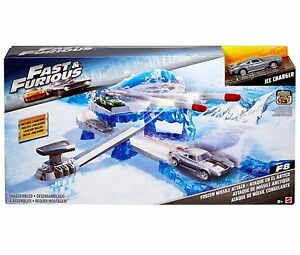 Fast & Furious Hot Wheels Track Launcher Missile Attack Playset w Charger Car