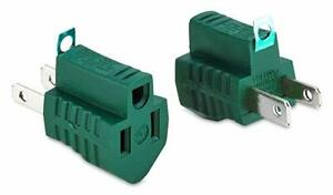 3 Prong to 2 Prong Grounding Adapters Outlet Electrical Ac Converter 2 Piece $7.89