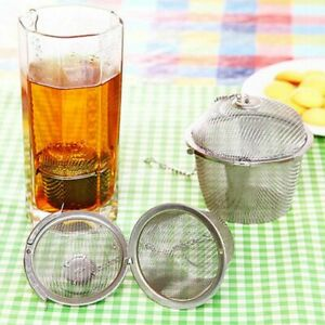3 Size Infuser Strainer Mesh Tea Filter Spoon Locking Spice Stainless Steel Ball