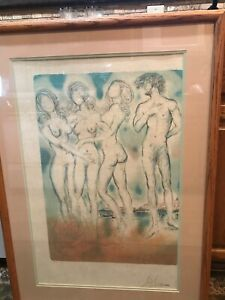 salvador dali original lithograph with certificate of authenticity printed 1979
