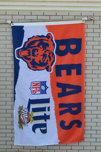 Lite Miller Chicago Bears Beer flag Banner 3X5Feet 02