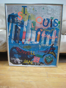 ROBERT RAUSCHENBERG RARE HAND SIGNED POSTER ST LOUIS SYMPHONY ORCHESTRA LISTED