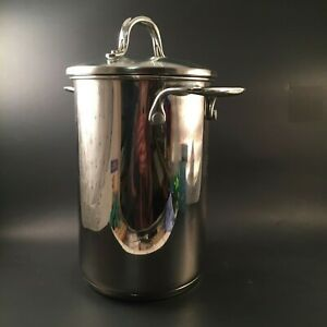 Crate & Barrel Aparagus Pasta Cooker Steamer Pot Kettle Stainless Steel