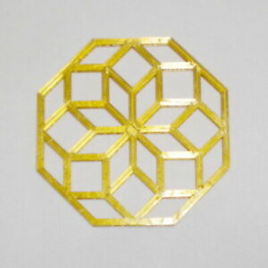 3D Printed Coaster Wall Hanging Zonohedron Decoration Gift Christmas Ornament $4.00