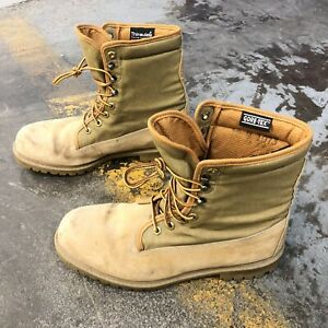 Wolverine Brown Tan Goretex Work Hunting Boots Men's 12 M made in USA Shia Fit