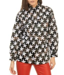 VALENTINO⚡️Star stamp print camouflage military jacket size 40ITUS Small