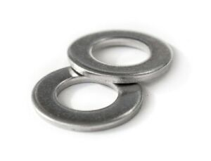 US / Inch - Stainless Steel Flat Washers, A2 (18-8) - #2 #4 #6 #8 #10 1/4