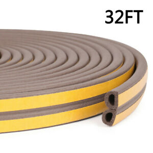 10m Door Seal Strip Bottom Self Adhesive Soundproof Weather Stripping For Window $6.64