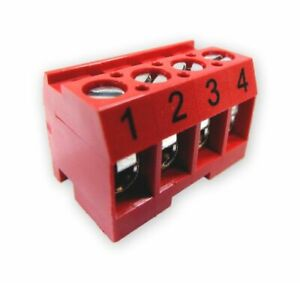 Jandy Zodiac 6609 Aqualink RS Replacement Part Terminal Bar 4 Pin - Red 6609+