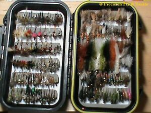 40 Preselected Trout Flies w box Quality Trout Fly Box Assortment