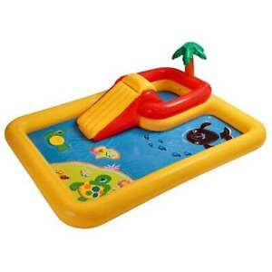 Intex Ocean Play Center Kids Inflatable Wading Pool 57454EP Open Box 4 Pack