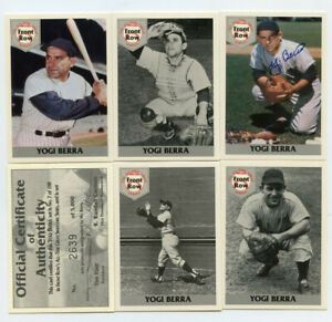 Yogi Berra 1992 Front Row The All Time Great Series Autograph w COA MHK11844