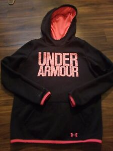 UNDER ARMOUR HOODIE GIRLS YOUTH LARGE BLACK $14.99