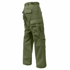 ROTHCO 2926 OD GREEN MENS BDU CARGO PANTS Relaxed Fit Zipper Fly SIZES S TO 3X