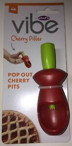 chef'n vibe Cherry Pitter Pop Out Cherry Pits Red Kitchen FREE SHIPPING NEW