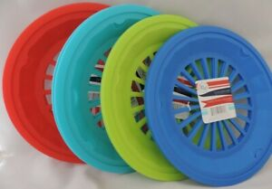 Set of 12 Reusable Plastic Paper Plate Holders 10 1 4 Picnic BBQ Camping Party