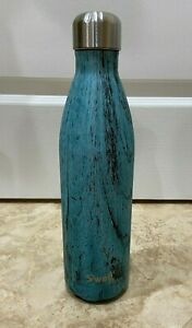 S'well Bottle - Teal Wood -The Wood Collection 25oz (NEW & Handpainted) (SWELL)