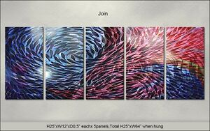Modern Original Metal Wall Art Abstract Special Indoor Outdoor Decor by Artist