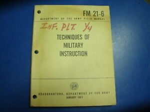 MANUAL TECHNIQUES OF INSTRUCTION FM 21 6 JAN 1967 UNIT MARKED