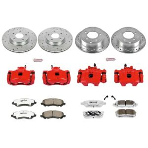 KC2840-26 Powerstop 4-Wheel Set Brake Disc and Caliper Kits Front