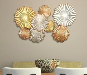 Large Modern Contemporary Style Metal Geometric Wall Art Sculpture Home Decor