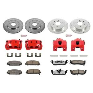KC2804-36 Powerstop Brake Disc and Caliper Kits 4-Wheel Set Front