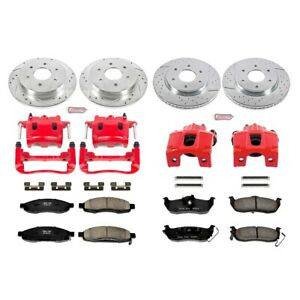 KC212 Powerstop Brake Disc and Caliper Kits 4-Wheel Set Front & Rear for Titan