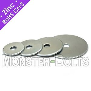 US Inch Fender Penny Washers Zinc Plated Steel #10 3 16quot; 1 4quot; 5 16quot;