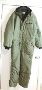 HUDSON BAY HERTER'S OFFICIAL GUIDE ASS'N HEAVY WINTER COVERALLS JACKET SIZE 48
