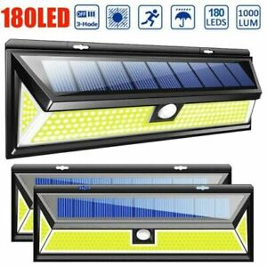 180LED COB Solar Lights Outdoor Wireless Motion Sensor Wall Security Floodlights