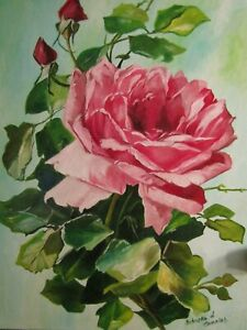 Spring Blossom ~ VintageVictorian Pink Cottage Rose with Buds ~ Shabby