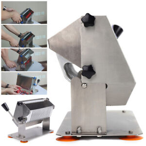 Commercial Manual sausage Cutter Potato Chipper Fruit Vegetable Slicer 8mm thick