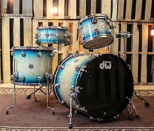 DW Collector#x27;s Carl Allen Blue Burst Over Quilted Kit 22121614 SO#1134314 $5730.27