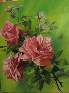 Victorian Inspired English Tea Roses ~ Pink Cabbage RosesChic Cottage Roses Art