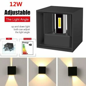 12W LED Up/Down Wall Light IP65 Waterproof Modern Sconce Outdoor Indoor Lamp New