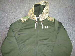 MINT MENS UNDER ARMOUR FULL ZIP CAMO HOODED SWEATSHIRT SIZE S SMALL HOODIE $19.99