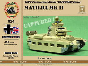 Lego Afrikakorps Matilda Mk II 'Captured' Complete Kit