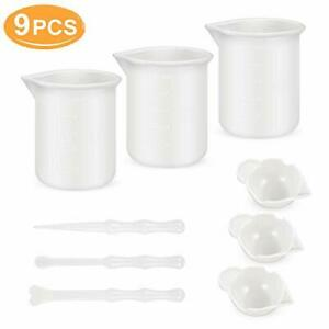 Mixing Cups for Resin Silicone Measuring 100ml, 3PCS Epoxy Mixing...