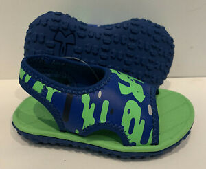 Under Armour Baby Toddler Boys Fat Waterproof Sandals Size 7K Blue Green 7T $12.99