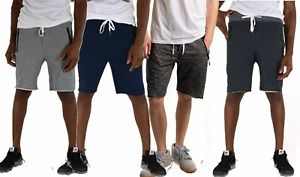 Mens Sport shorts Casual Cotton Fleece Jogger pants Gym Shorts Made In USA $16.99