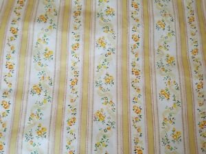 5 Y. True Vintage French Country Style Ticking 100% Cotton Yellow Dress Fabric