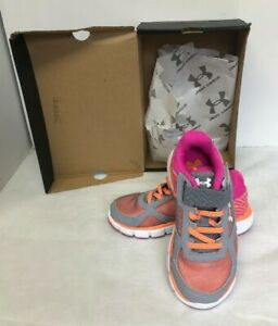 Girls Under Armour UA GPS Velocity RN AC Shoes Size 12 New $27.50