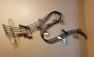 Curtis Jere Large Music Notes Mid Century Modern Wall Art Sculpture Signed $474.99