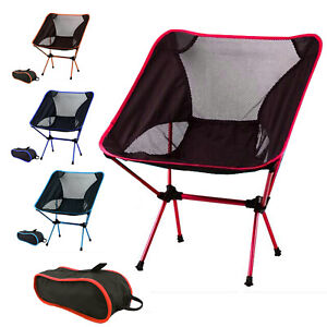 Portable Lightweight Folding Chair Alloy Outdoor Camping Chair Backpacking Chair