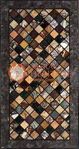 Marble Big Dining Center Inlay Table Top Design Hallway Decorative 8'x4'  E1666