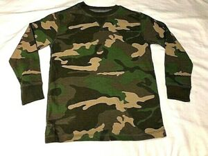 Faded Glory Boys Camo LS Thermal Crew Neck Shirt You Pick Hunting Casual NEW $14.99